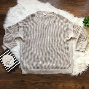 J. Crew knit sweater size large